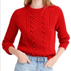 J. Crew Popcorn Cable Knit Sweater